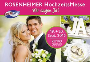 Großbanner Rosenheimer-Hochzeitsmesse